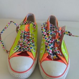 Coverse all star mens neon sneakers sz 9